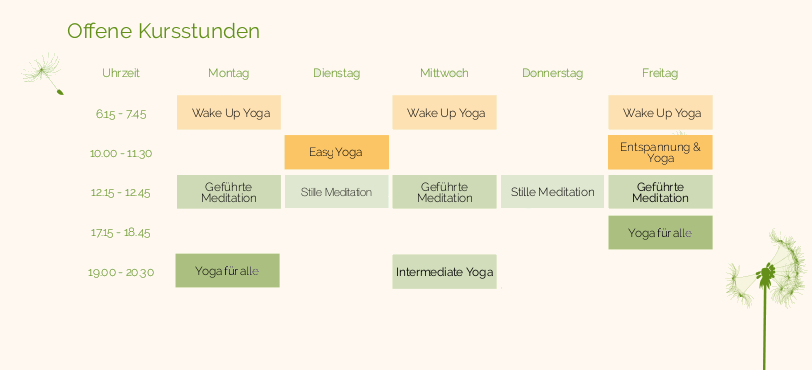 Greenspirit Yoga Kurskalender